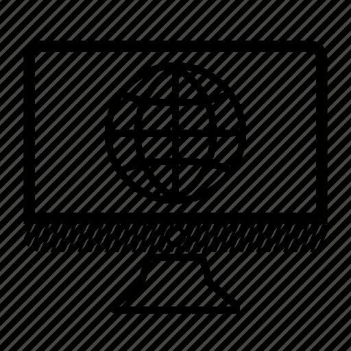 browser, computer, desktop, internet, monitor icon
