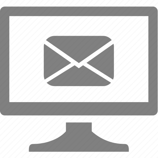 computer, electronics, letter, message, monitor icon