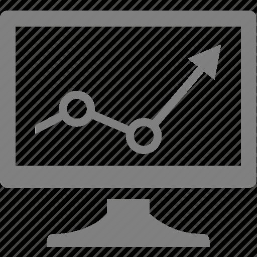 arrow, computer, electronics, monitor icon