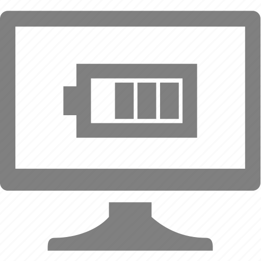 battery, computer, electronics, monitor icon