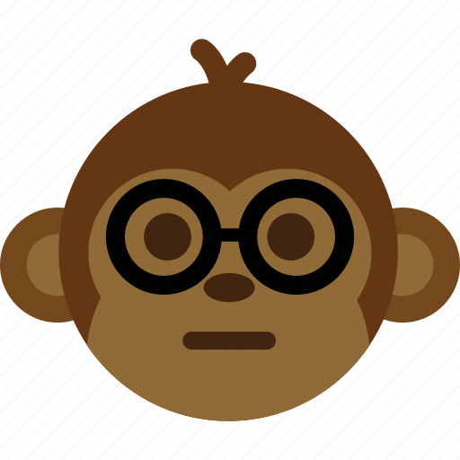 emoticon, expression, face, monkey, smile icon