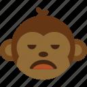 emoticon, expression, face, monkey, smile icon