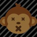 emoticon, expression, face, monkey, smile