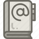 address, book, contact, email icon