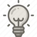 bulb, idea, light