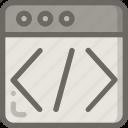 code, html, page, script, web