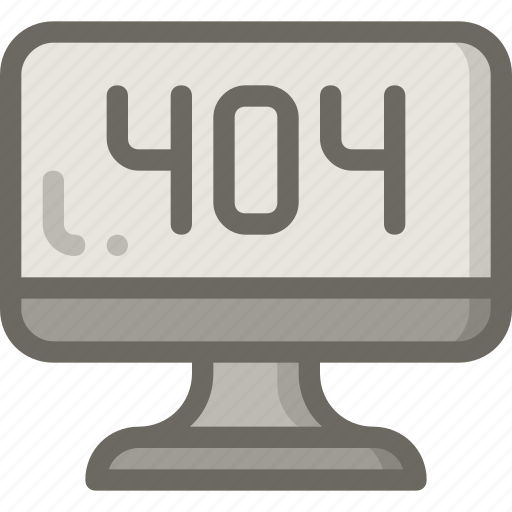 computer, error, found, not, page icon