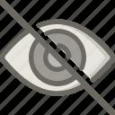 eye, invisible, retina, visual