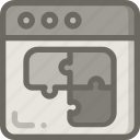 content, page, puzzle, strategy, web icon