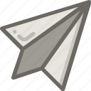 message, paper, plane, send