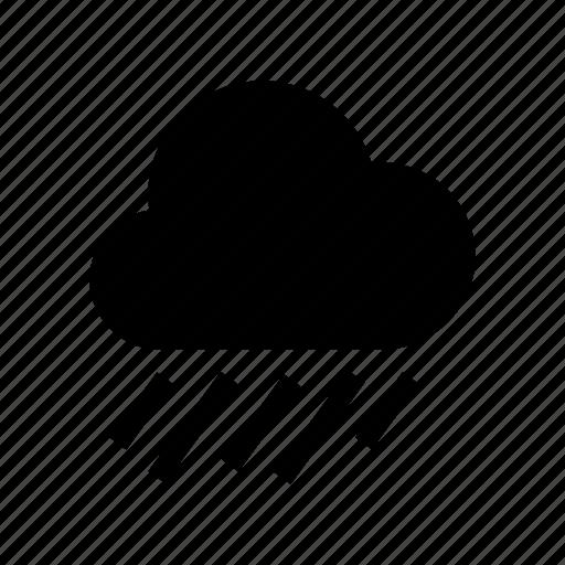 cloud, night, rain, rainy, storm, temperature, weater icon