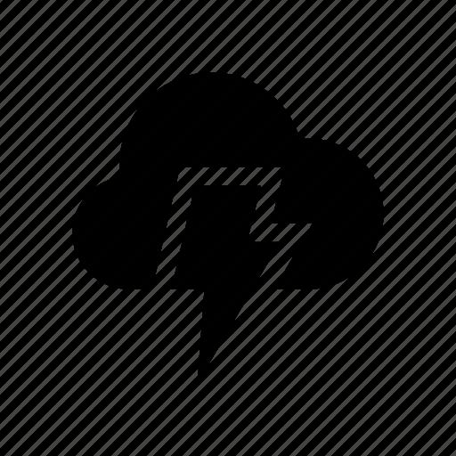 cloud, clouds, flash, rain, storm, weater, winter icon