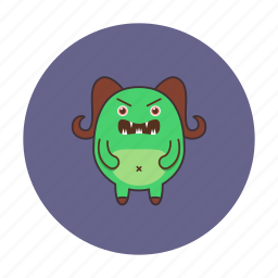 monster, planet, space, ufo icon