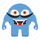 cartoon, halloween, monster icon
