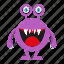 cartoon, cute mosnter, monster, spooky icon