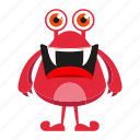 cartoon, funny, monster, spooky icon