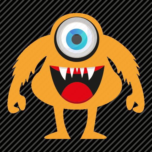 cartoon, funny, monster, spooky icon