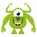 character, cute monster, funny monster, spooky icon