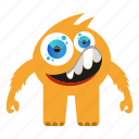 cartoon, creature, cute monster, funny monster icon