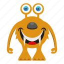cartoon, character, cute monster, funny monster icon
