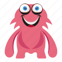 cartoon monster, character, funny monster icon