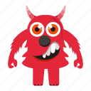 character, funny monster, halloween icon