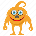 character, funny monster, spooky icon
