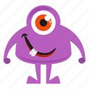 funny monster, character, cartoon
