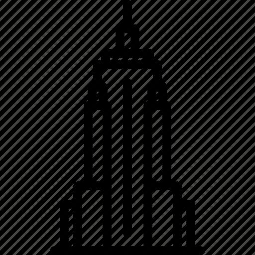 building, empire, state icon