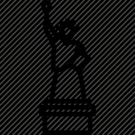 america, liberty, monument, statue, usa icon