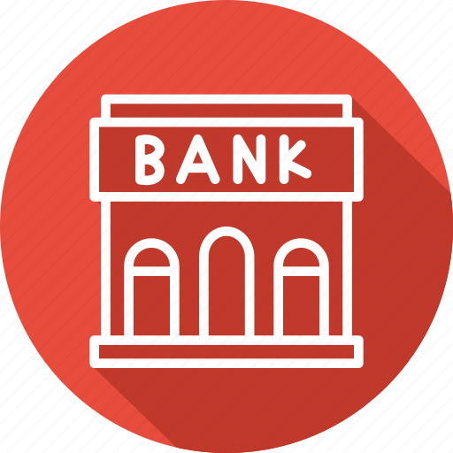 bank, banking and finance, building, business, mordern icon