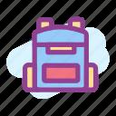 backpack, bag, morning, ransel icon