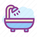 bathing, bathup, morning, shower icon