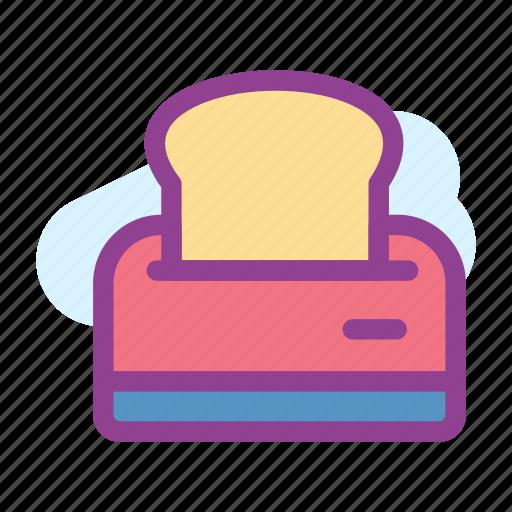 bread, morning, toast, toaster icon
