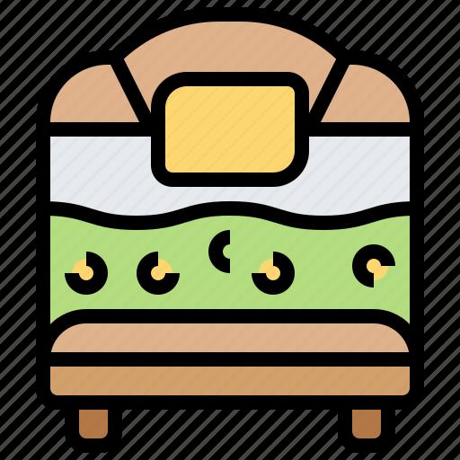 Bed, bedroom, comfortable, furniture, sleep icon - Download on Iconfinder