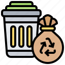 bin, garbage, recycle, trash, waste icon