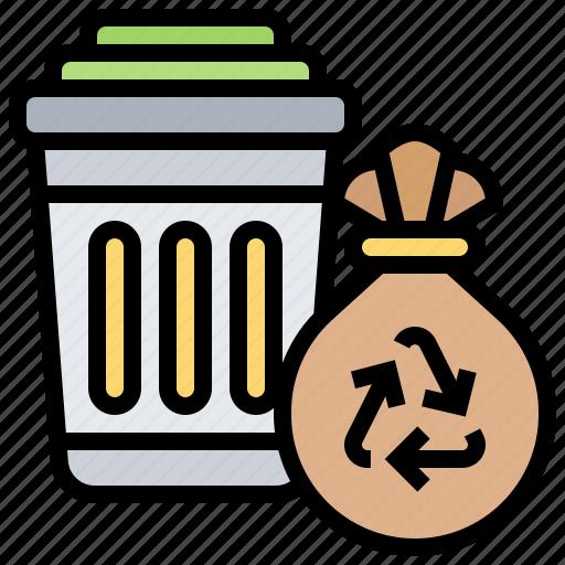 bin, garbage, recycle, trash, waste icon