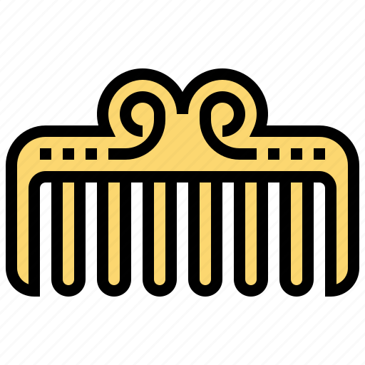accessory, beauty, care, comb, hair icon