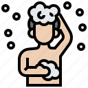 bath, bathroom, clean, hygiene, shower icon