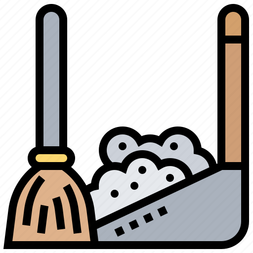 broom, chores, cleaning, dustpan, sweep icon