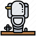 bathroom, flush, furniture, sanitary, toilet icon
