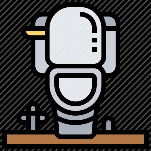 Bathroom, flush, furniture, sanitary, toilet icon - Download on Iconfinder