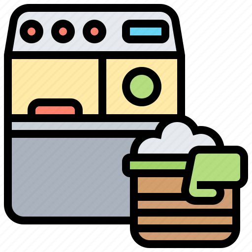 clean, clothes, electronics, machine, washing icon