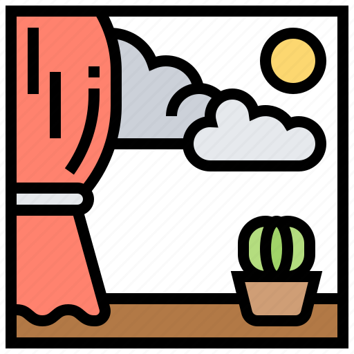 Nature, refreshment, relax, view, window icon - Download on Iconfinder