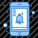 mobile, notification, reminder icon