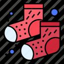 dots, footwear, socks