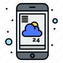 forecast, mobile, report, service, weather