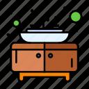 bathroom, furniture, sink icon