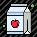 apple, bottle, juice, pack