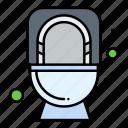 bathroom, commode, flush, toilet
